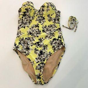 J.Crew Yellow Underwire Swimsuit